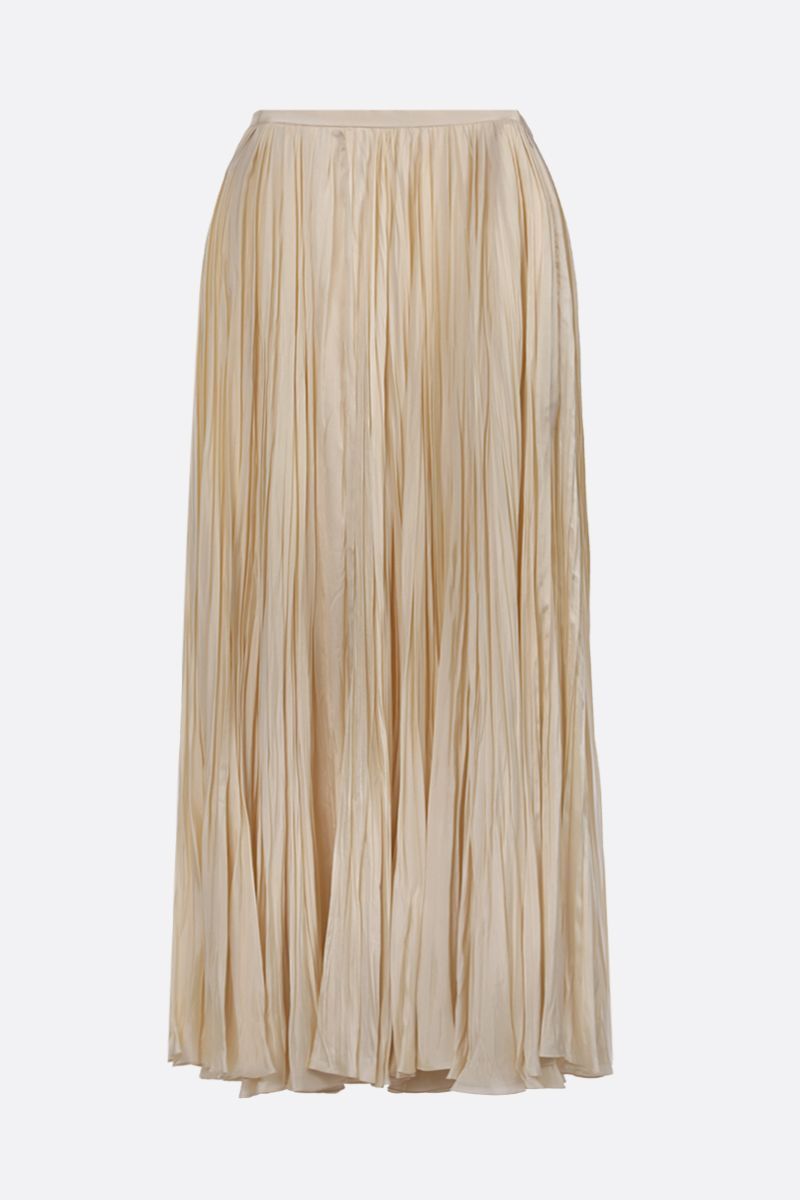 JIL SANDER: twill pleated skirt Color Neutral_1