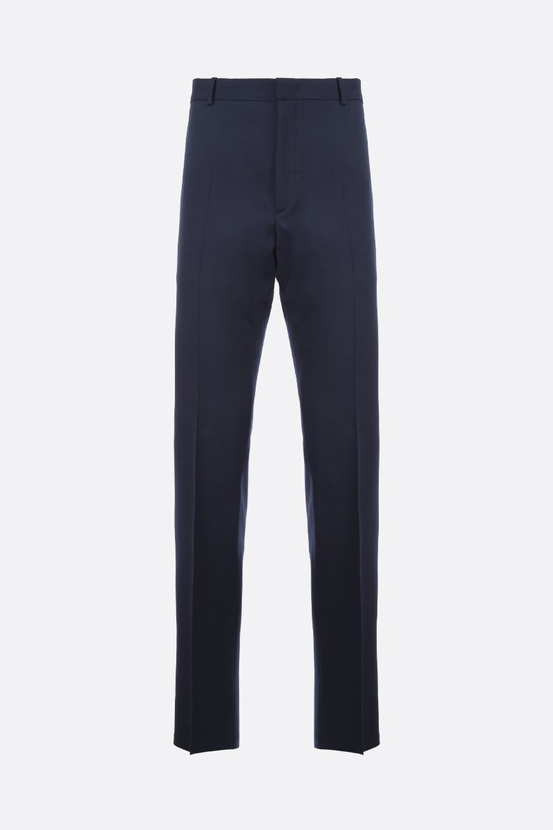 JIL SANDER: wool regular-fit pants Color Blue_1
