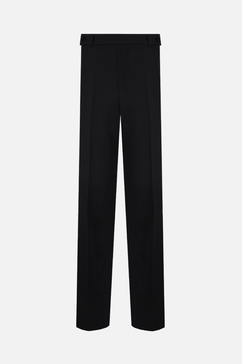 JIL SANDER: wool straight-fit pants Color Black_1