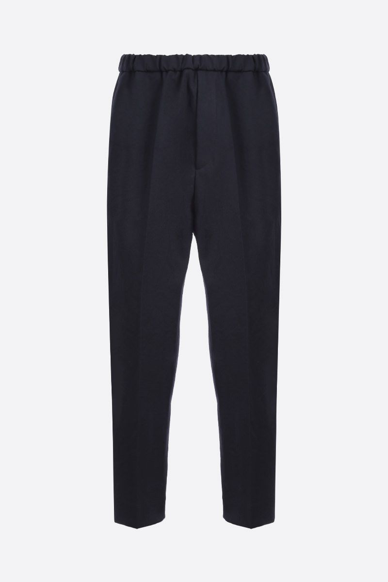 JIL SANDER: cotton cropped pants Color Blue_1