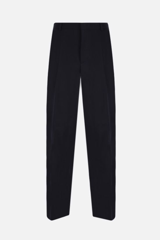 JIL SANDER: slim-fit wool pants Color Blue_1