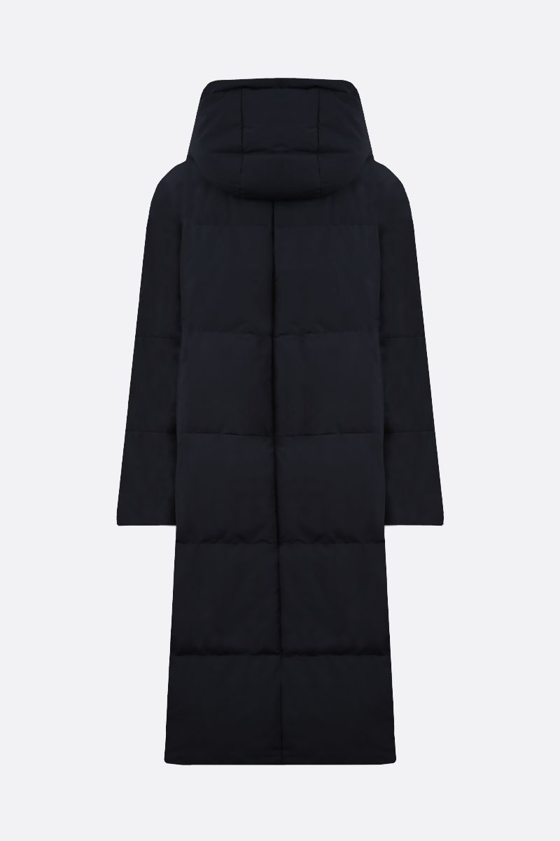 JIL SANDER: nylon hooded down jacket Color Blue_2