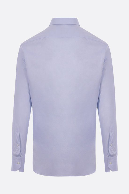 ERMENEGILDO ZEGNA: Trofeo cotton shirt Color Blue_2