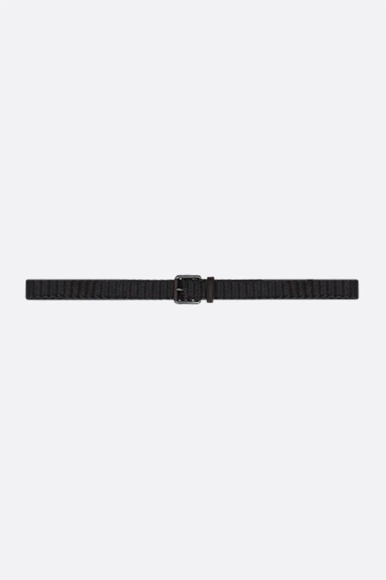 ERMENEGILDO ZEGNA: woven nappa belt Color Brown_1
