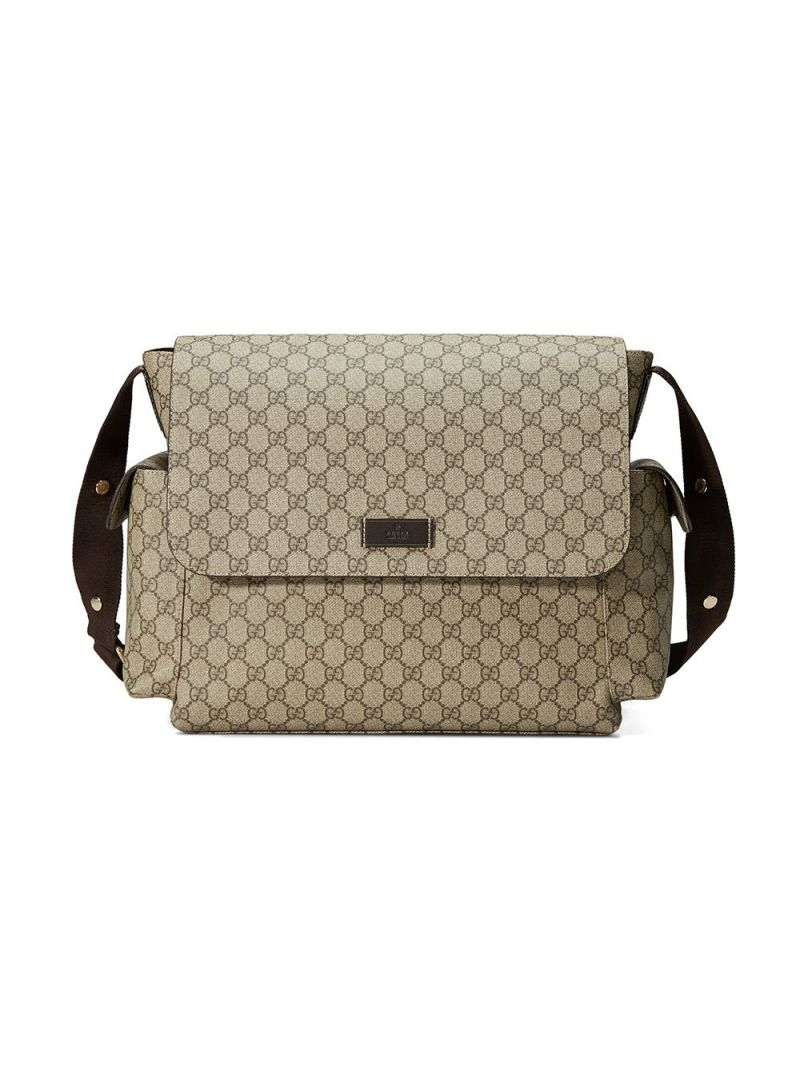 GUCCI CHILDREN: GG Supreme coated canvas changing bag Color Multicolor_1