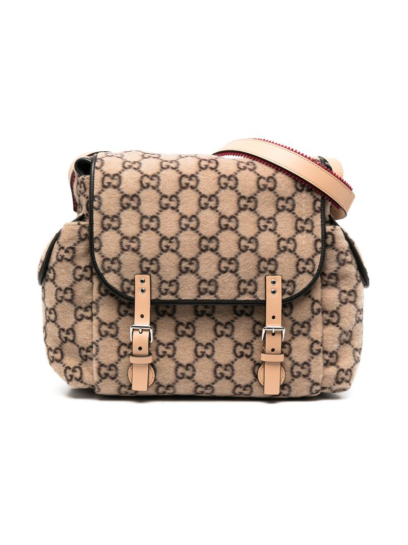 GUCCI CHILDREN: GG wool changing bag_1
