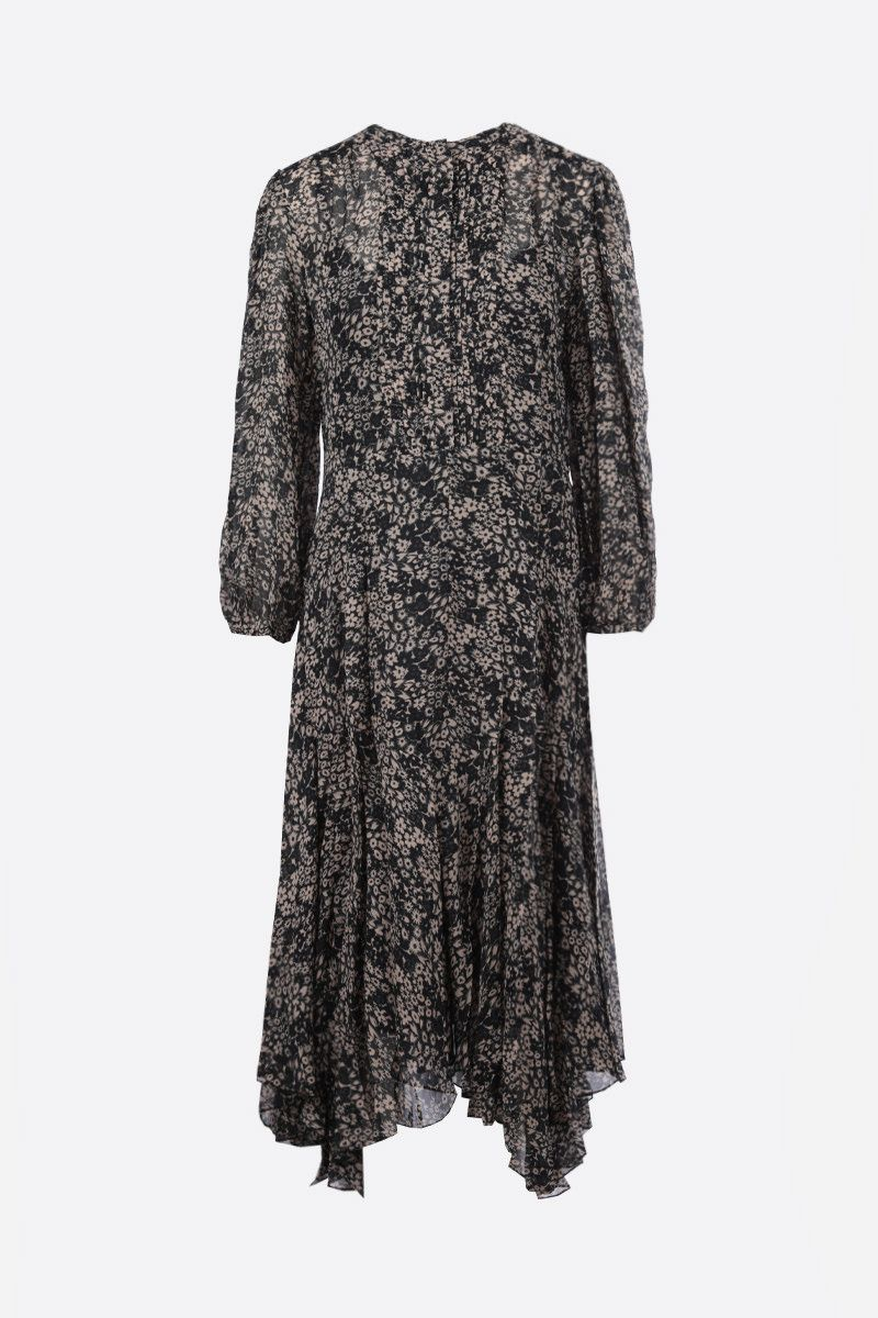 ISABEL MARANT ETOILE: Lizete georgette midi dress Color Black_1