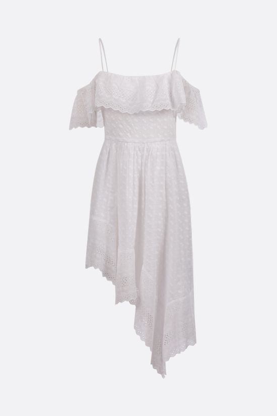 ISABEL MARANT ETOILE: Timoria asymmetric broderie anglaise dress Color White_1