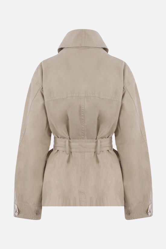 ISABEL MARANT ETOILE: Prunille cotton linen blend jacket Color Neutral_2