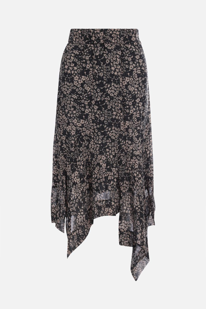 ISABEL MARANT ETOILE: gonna asimmetrica Eda in georgette Colore Nero_1