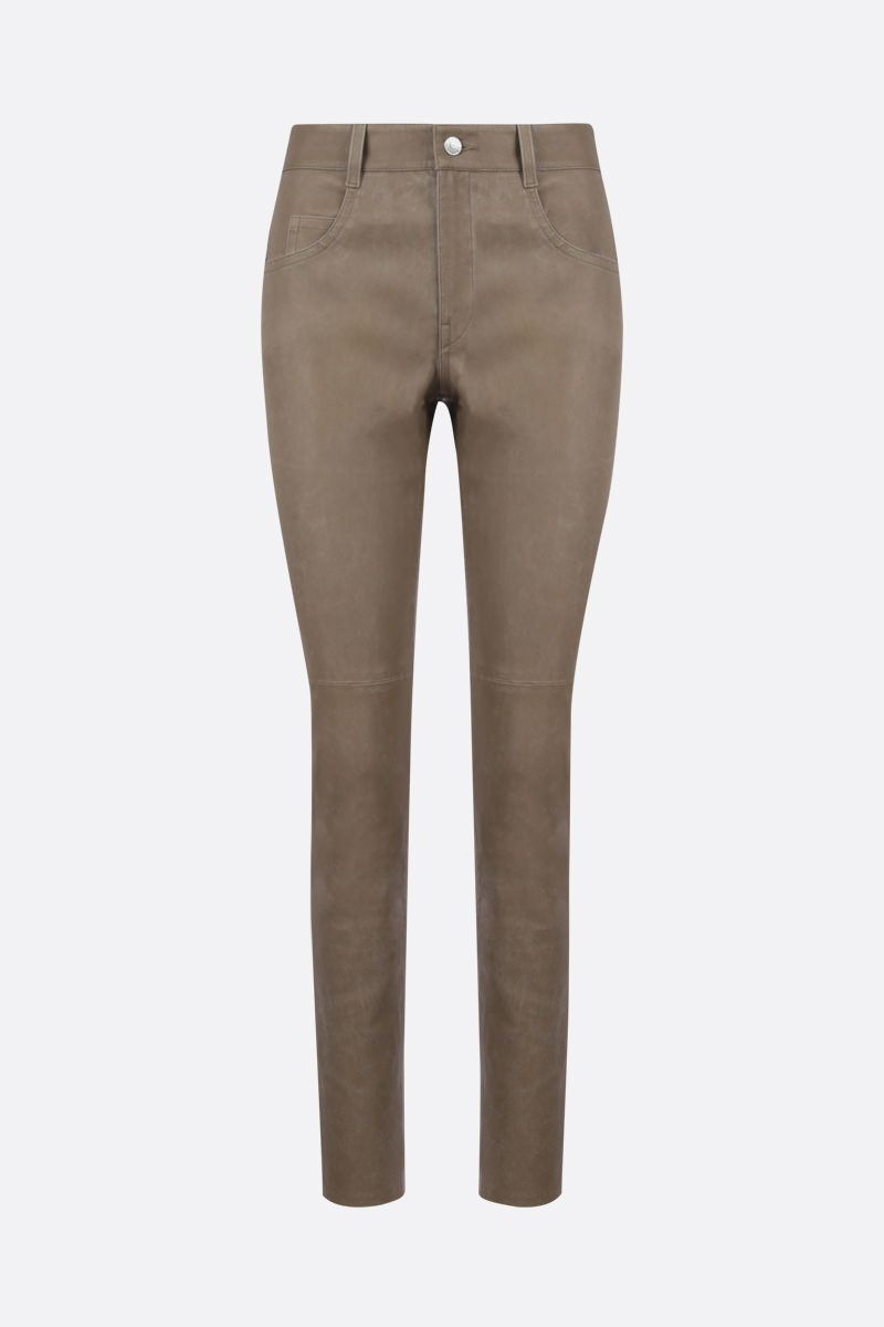 ISABEL MARANT ETOILE: Taro nappa skinny pants Color Neutral_1