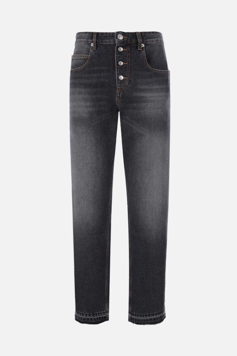 ISABEL MARANT ETOILE: jeans cropped Belden Colore Grigio_1