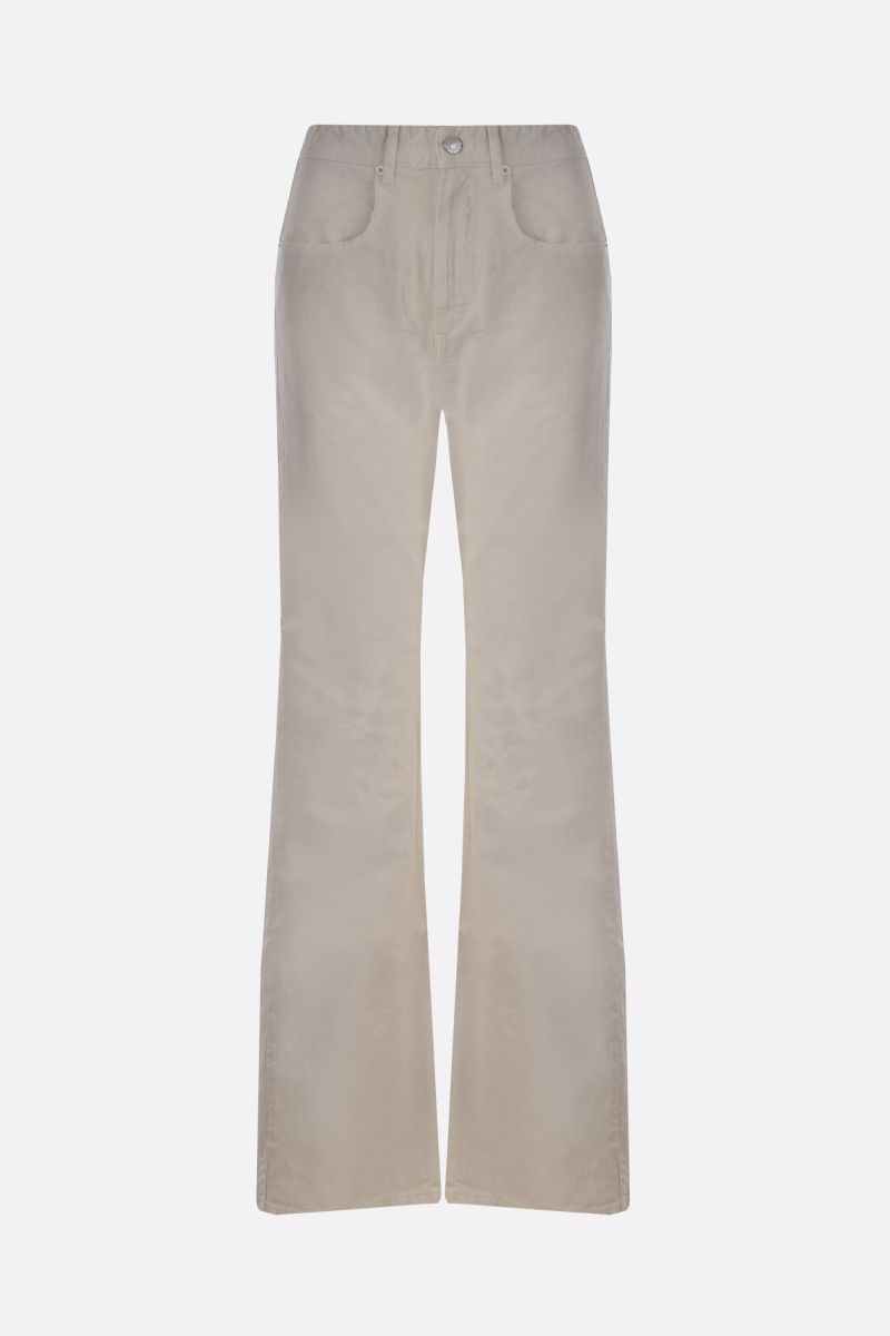 ISABEL MARANT ETOILE: Belvirac flare jeans Color Neutral_1