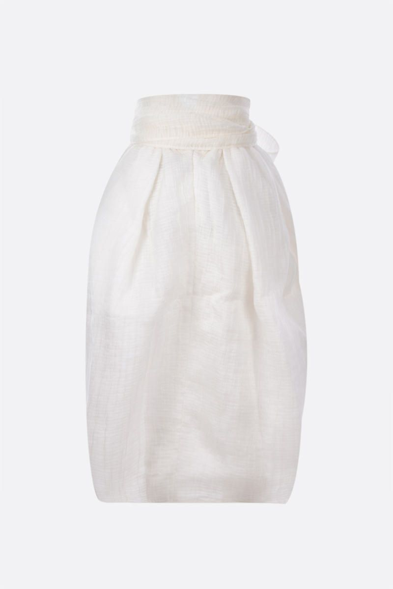 CECILIE BAHNSEN: gonna midi Janet in organza crinkled Colore Neutral_2