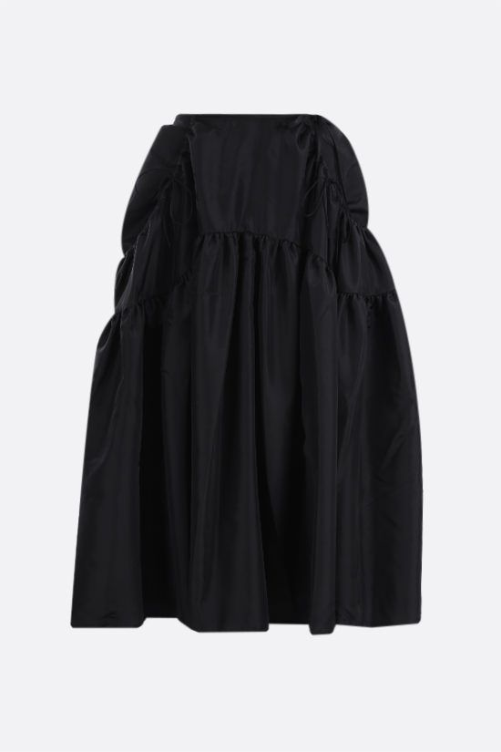 CECILIE BAHNSEN: Lily taffeta full skirt Color Black_1