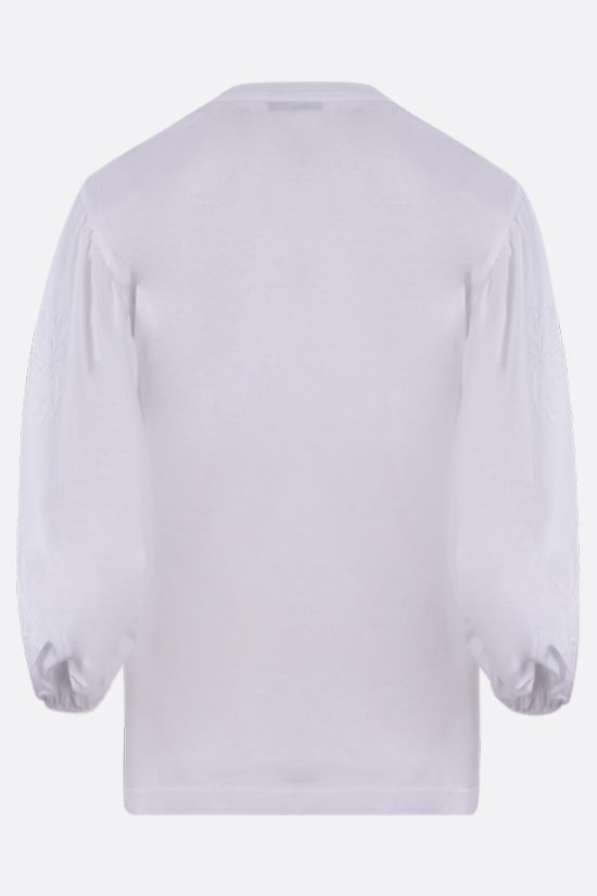 CECILIE BAHNSEN: Clay cotton t-shirt Color White_2