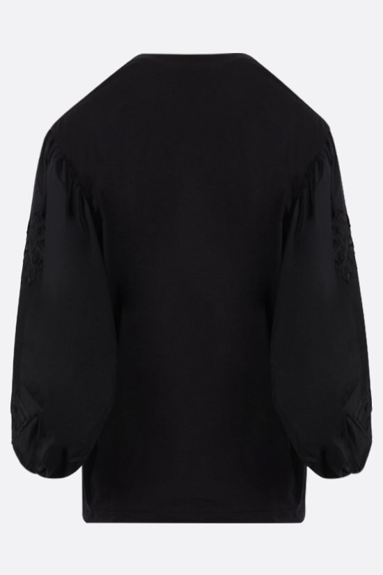 CECILIE BAHNSEN: Candy cotton t-shirt Color Black_2