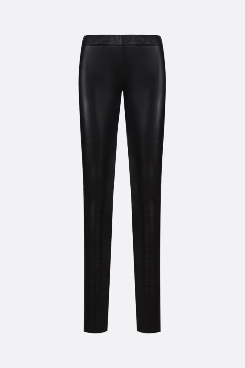SYLVIE SCHIMMEL: Fun stretch nappa leggings Color Black_1