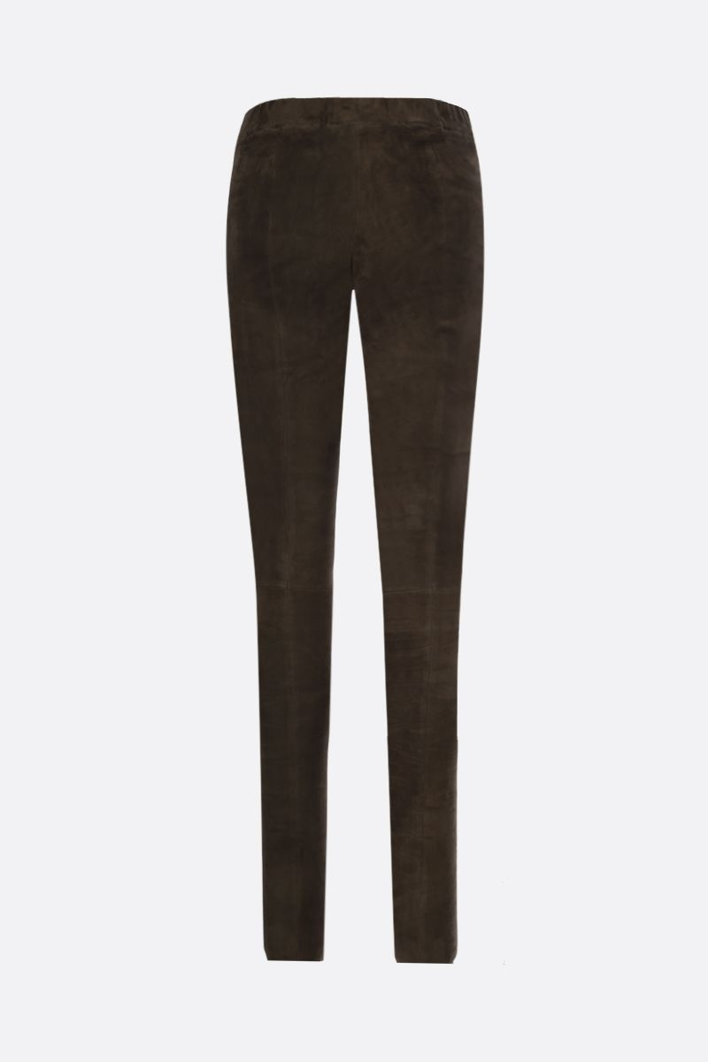 SYLVIE SCHIMMEL: Fun stretch suede leggings Color Brown_2