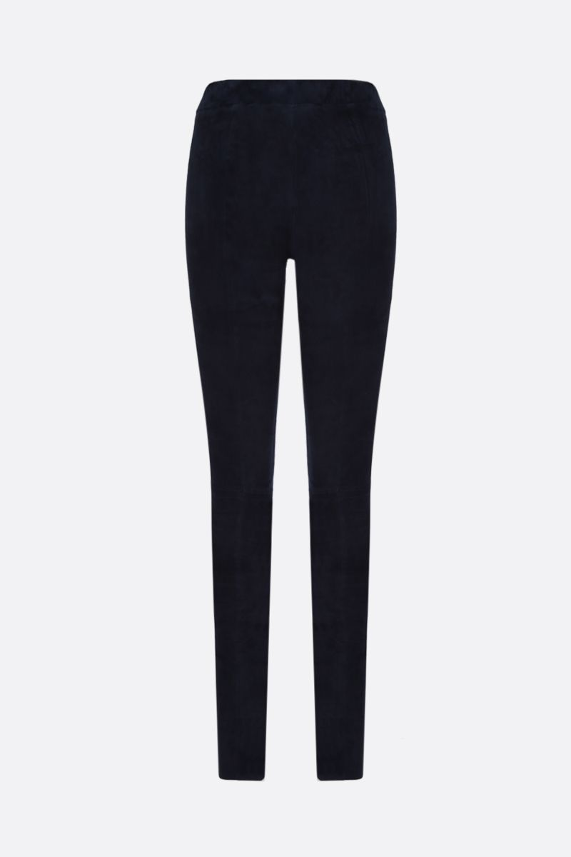 SYLVIE SCHIMMEL: Fun stretch suede leggings Color Blue_2