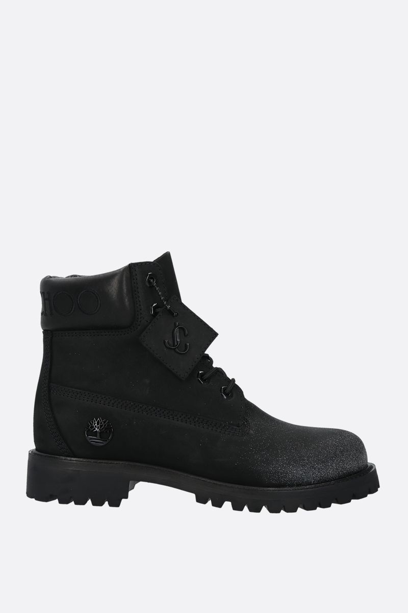 JIMMY CHOO: JC x Timberland/F nabuck boots Color Black_1
