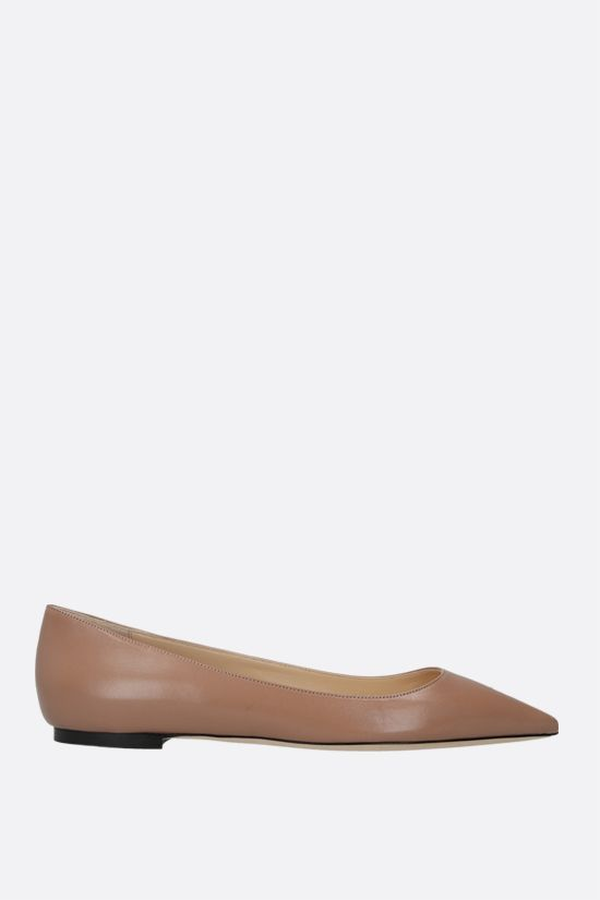 JIMMY CHOO: Romy smooth leather ballerinas Color Pink_1