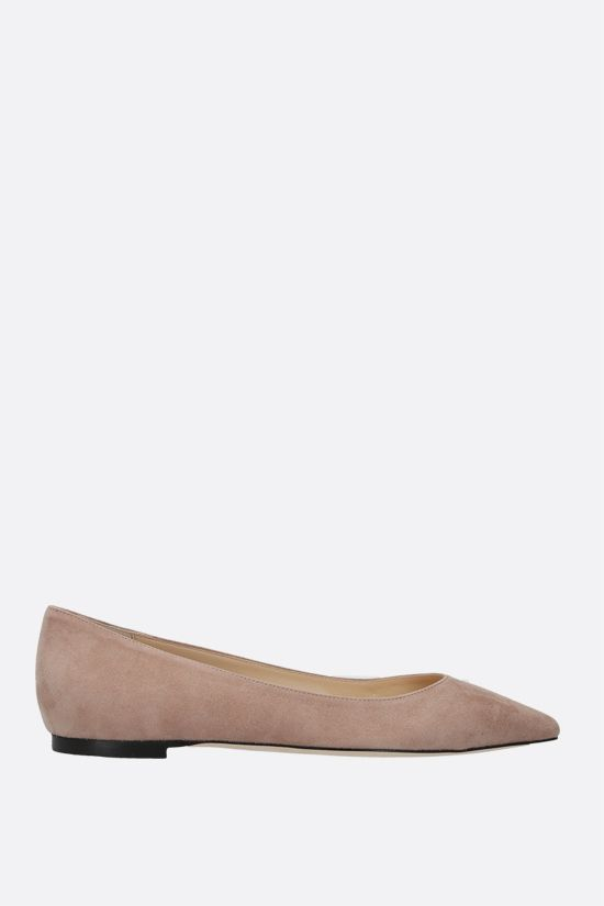 JIMMY CHOO: Romy suede ballerinas Color Pink_1