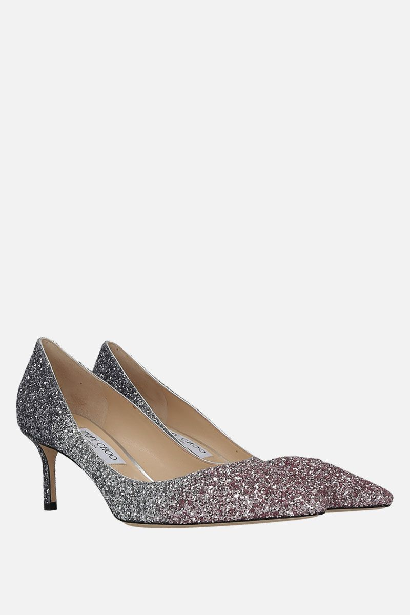 JIMMY CHOO: Romy pumps in glitter fabric Color Multicolor_2