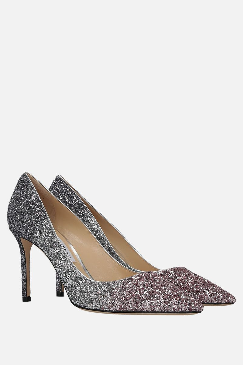 JIMMY CHOO: Romy pumps in degradè glitter fabric Color Multicolor_2