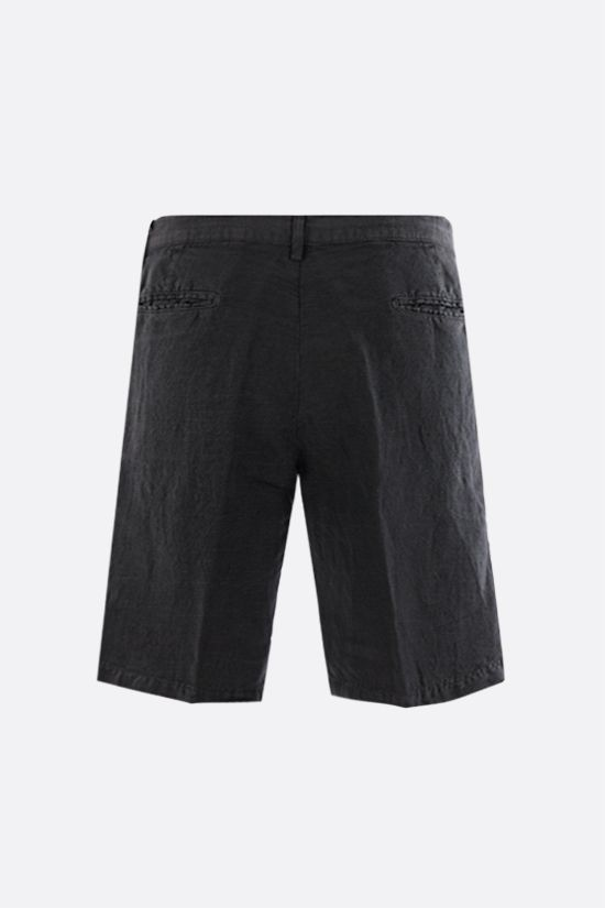 MASSIMO ALBA: Vela linen cotton blend shorts Color Black_2