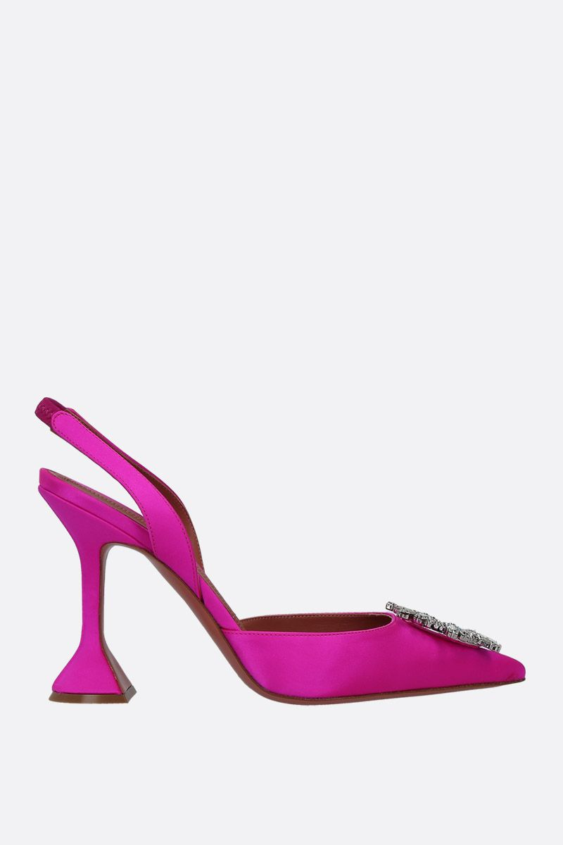 AMINA MUADDI: Begum satin slingbacks Color Pink_1