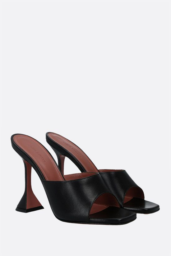 AMINA MUADDI: Lupita nappa mule sandals Color Black_2