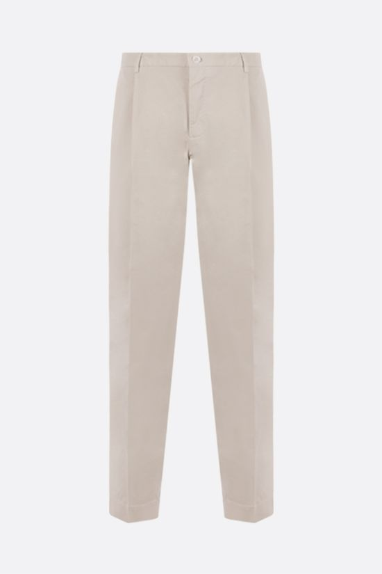 INCOTEX: tapered-fit stretch cotton pants Color Neutral_1