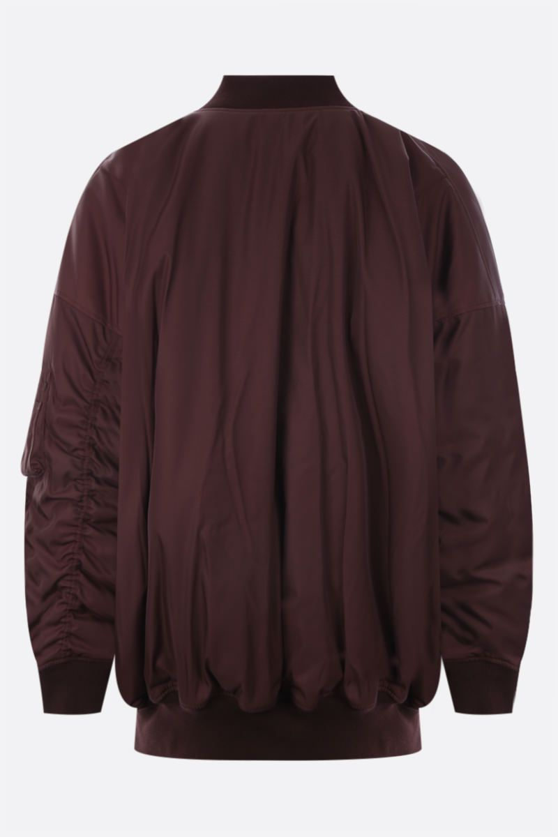 MARTINE ROSE: Quiet Riot oversize technical cotton bomber jacket Color Red_2