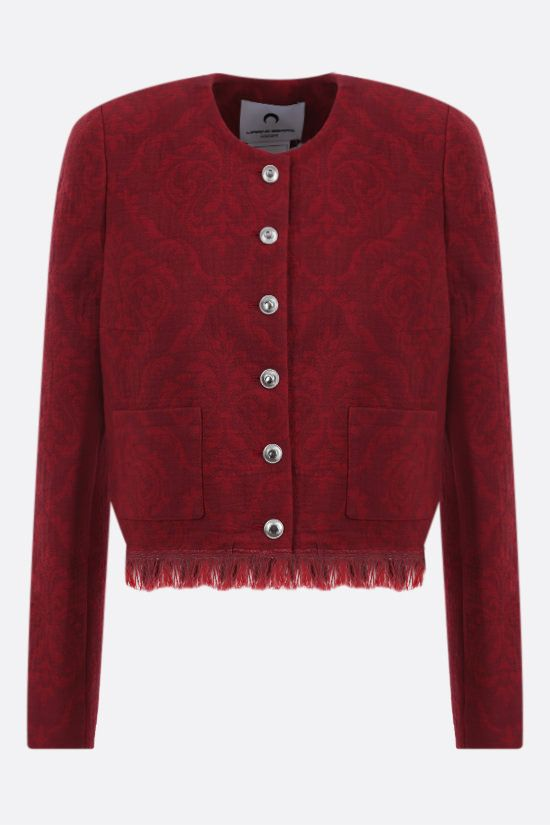 MARINE SERRE: recycled fabric cropped jacket Color Red_1