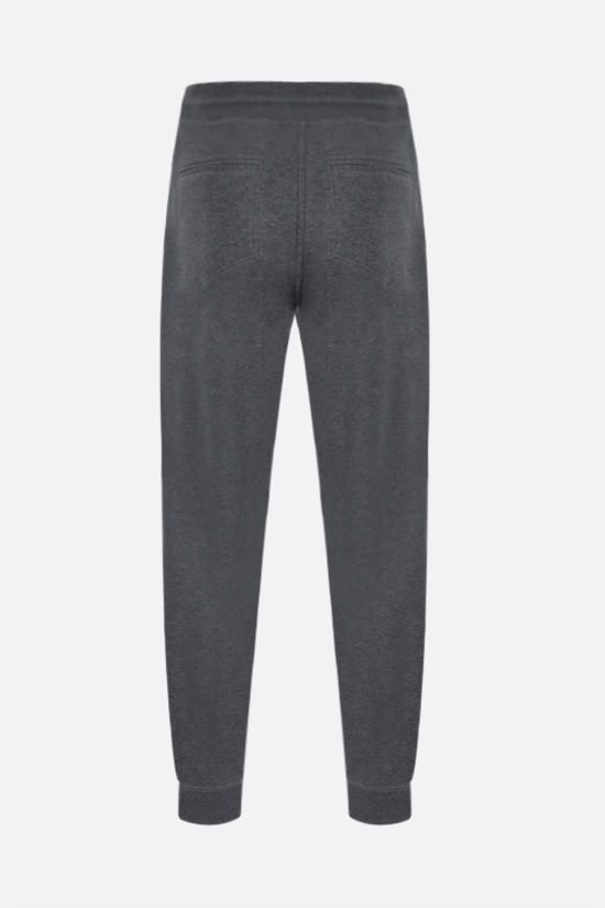 BRUNELLO CUCINELLI: cotton blend joggers Color Grey_2