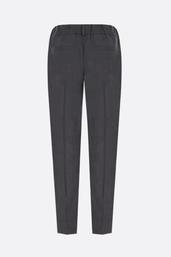 BRUNELLO CUCINELLI: monili-detailed wool blend joggers Color Grey_2