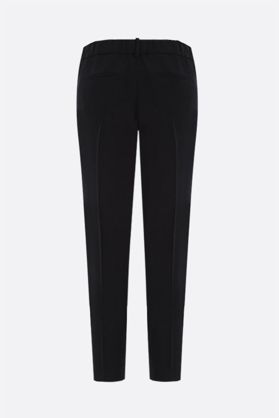 BRUNELLO CUCINELLI: monili-detailed cady joggers Color Black_2