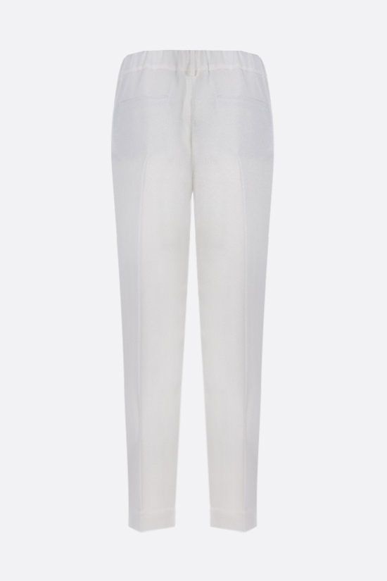 BRUNELLO CUCINELLI: monili-detailed cady joggers Color White_2