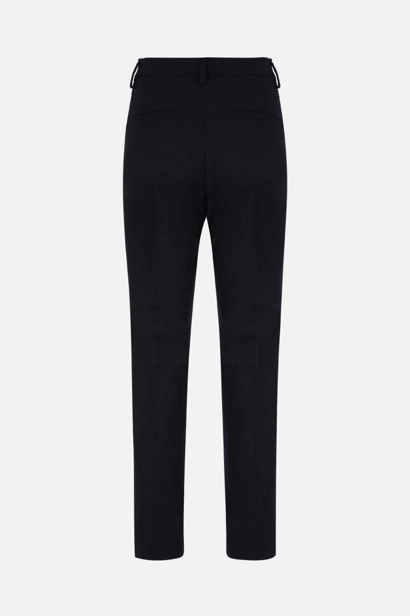 BRUNELLO CUCINELLI: monili-detailed stretch wool pants Color Black_2