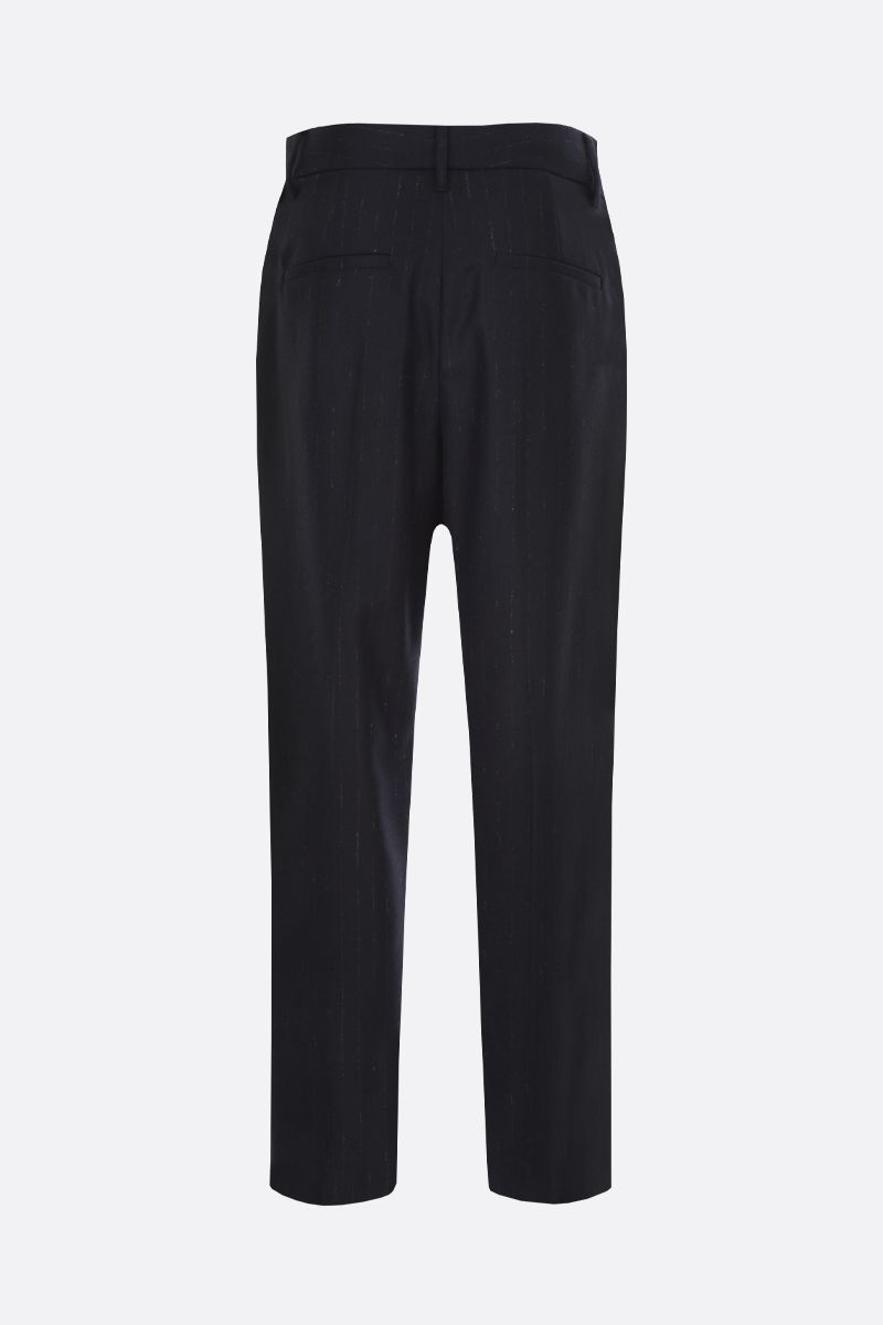 BRUNELLO CUCINELLI: pinstriped stretch wool darted pants_2