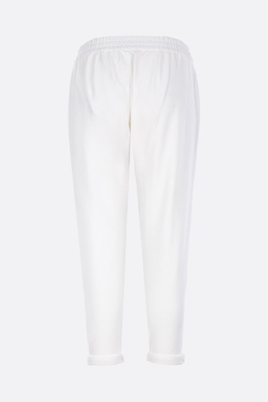 BRUNELLO CUCINELLI: Shiny Stitch-detailed jersey joggers Color White_2