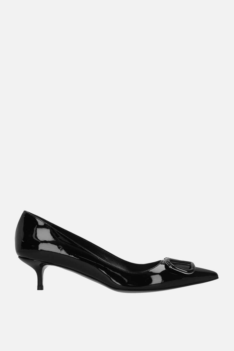 VALENTINO GARAVANI: VLOGO patent leather pumps Color Black_1