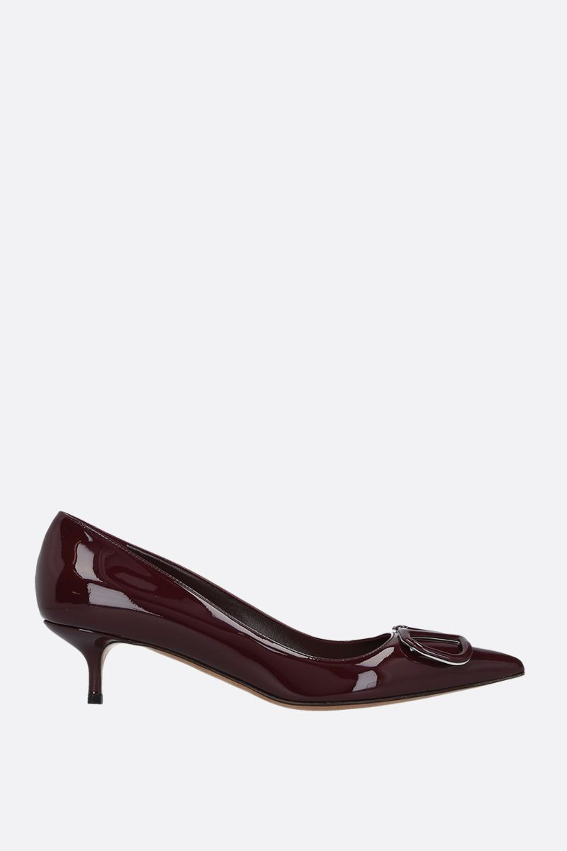 VALENTINO GARAVANI: VLOGO patent leather pumps Color Red_1