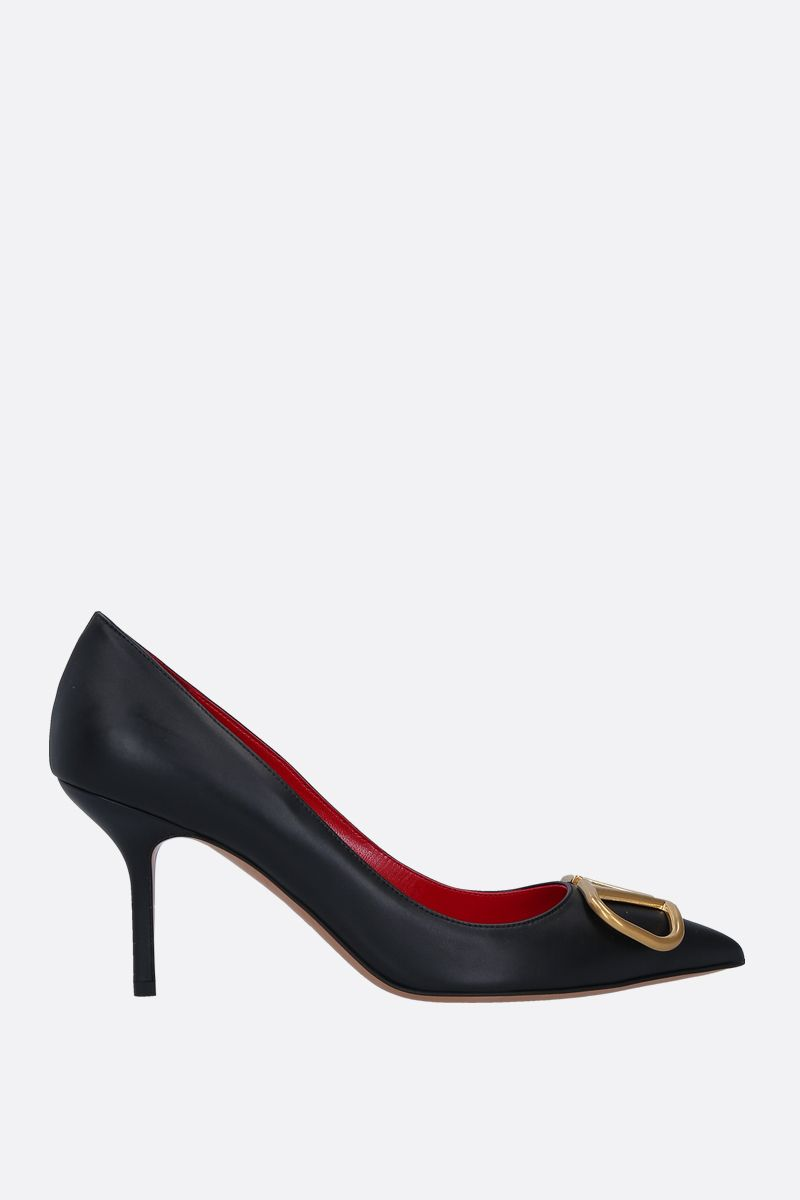 VALENTINO GARAVANI: VLOGO smooth leather pumps Color Black_1