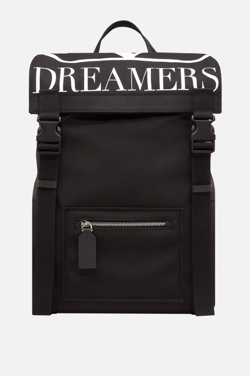 VALENTINO GARAVANI: VLOGO DREAMERS nylon backpack Color Black_1