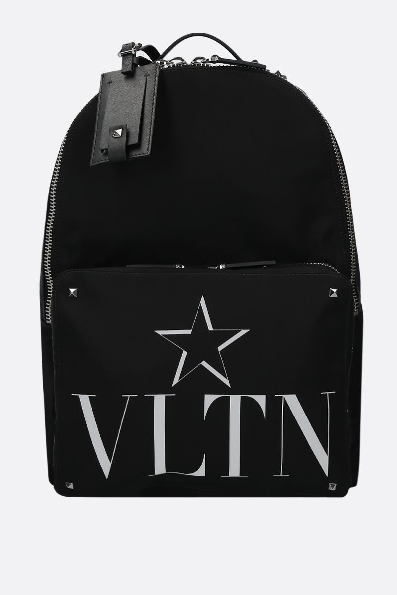 VALENTINO GARAVANI: VLTNSTAR nylon backpack Color Black_1