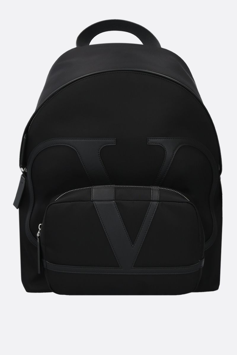 VALENTINO GARAVANI: VLOGO nylon backpack Color Black_1