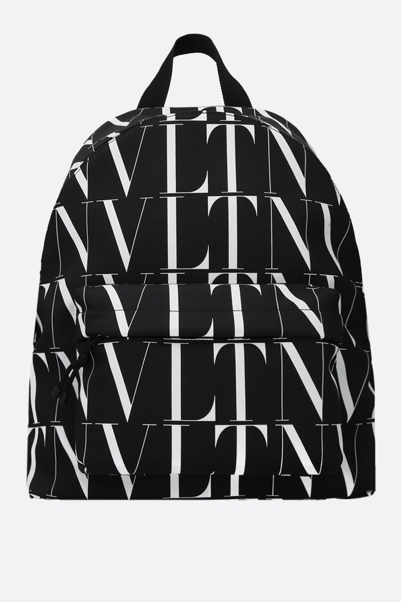 VALENTINO GARAVANI: VLTN TIMES nylon backpack Color Black_1