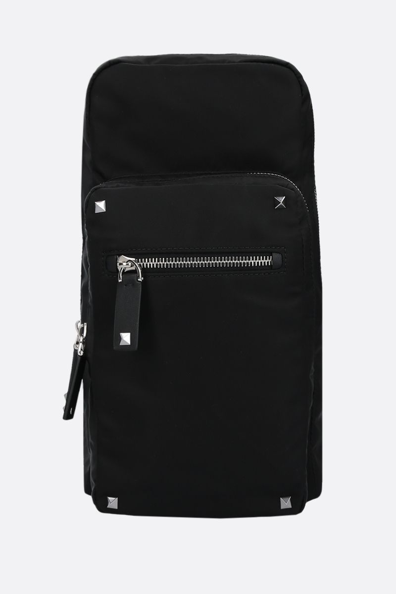VALENTINO GARAVANI: VLTN nylon one-shoulder backpack Color Black_1